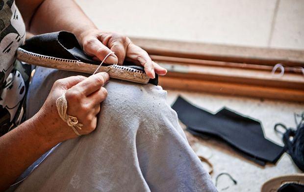Espadryle marki Espadre robione są ręcznie