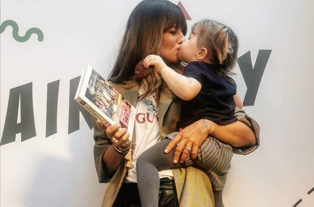 Anna Lewandowska i Klara Lewandowska na premierze książki 'Baby by Ann' 14 listopada w Warszawie