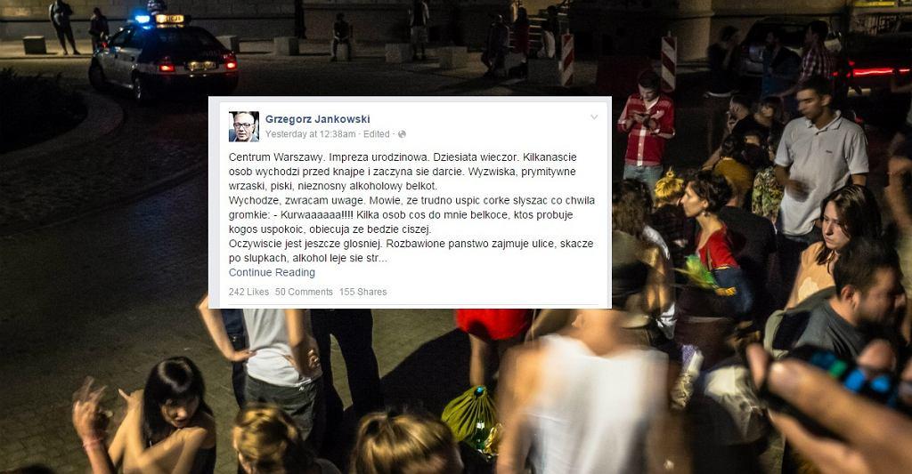 Grzegorz Jankowski chciał uciszyć gości restauracji Boscaiola