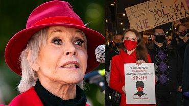 Jane Fonda, protesty w Warszawie