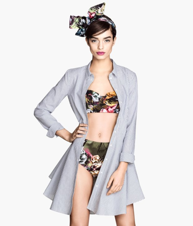 strój kąpielowy, h&m, kostium kąpielowy