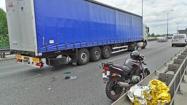 Wypadek na moście Siekierkowskim