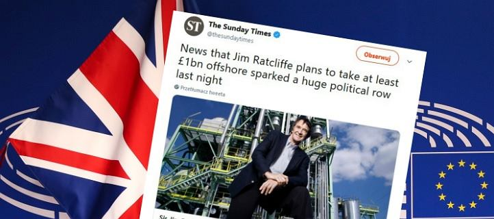 Najbogatszy Brytyjczyk wynosi się z podatkami do Monako. Wspierał brexit