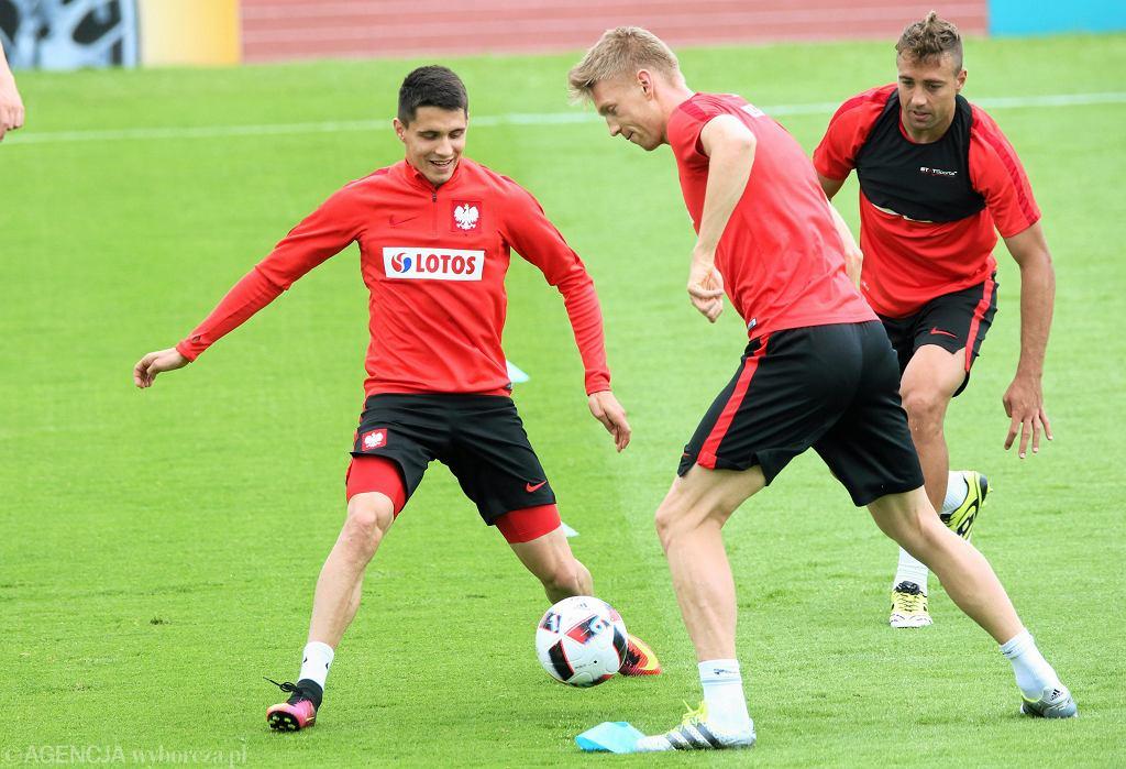 Przed meczem Polska - Szwajcaria nasza reprezentacja trenowała w Saint Etienne