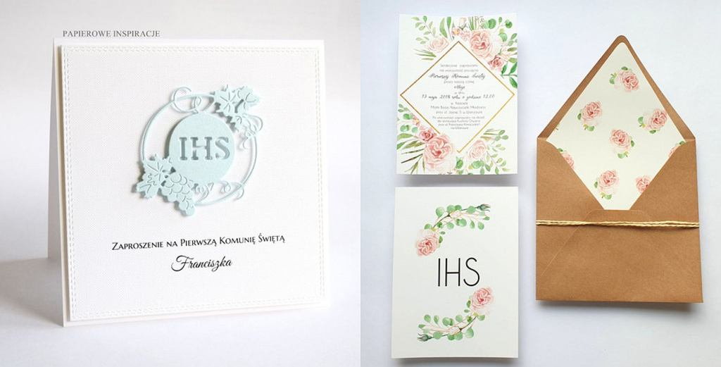 Zaproszenia komunijne: Zaproszenie Chłopiec #H1 od Papierowe Inspiracje; Zaproszenie FD98 od FarrowDesign
