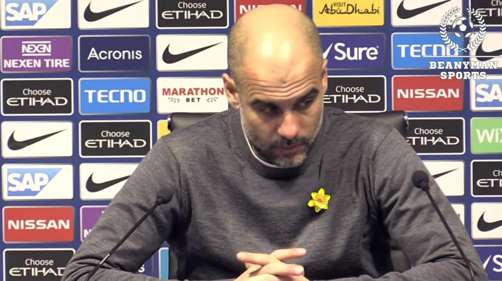 Pep Guardiola na konferencji