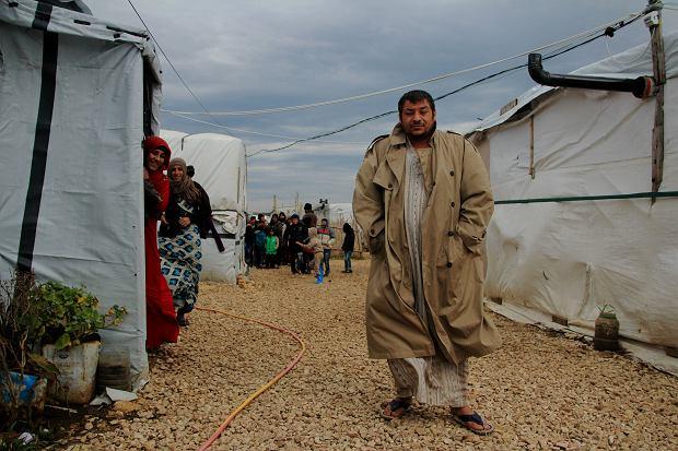 Chalid, 29-letni syryjski uchodźca w nieformalnym obozowisku w Libanie
