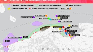 Potencjalnie niebezpieczne wraki w polskiej części Bałtyku znajdują się obok lub w obrębie obszarów chronionych