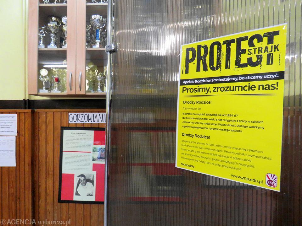 Strajk nauczycieli w gorzowskiej SP nr 1
