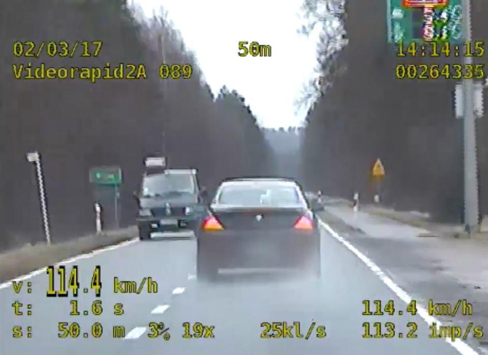 Kierowca BMW zatrzymany w Białczu