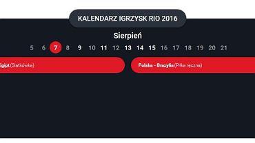Kalendarz Polaków na Rio 2016