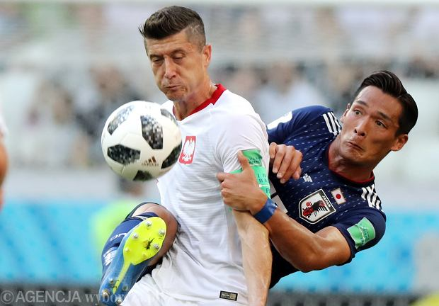 MŚ 2018. Polska - Japonia 1:0. Robert Lewandowski