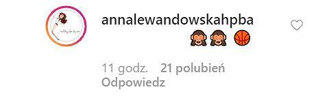 Komentarz Ani Lewandowskiej