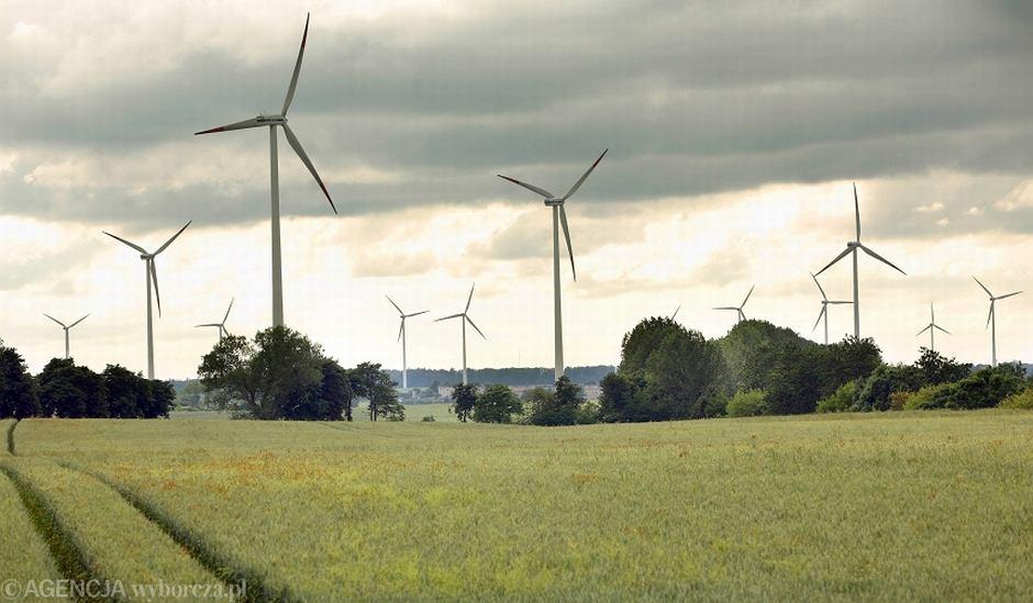 Farma wiatrowa w Tymieniu k. Koszalina