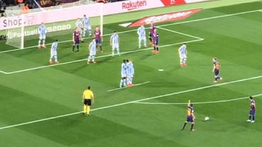 Sposób Realu Sociedad na rzuty wolne Barcelony