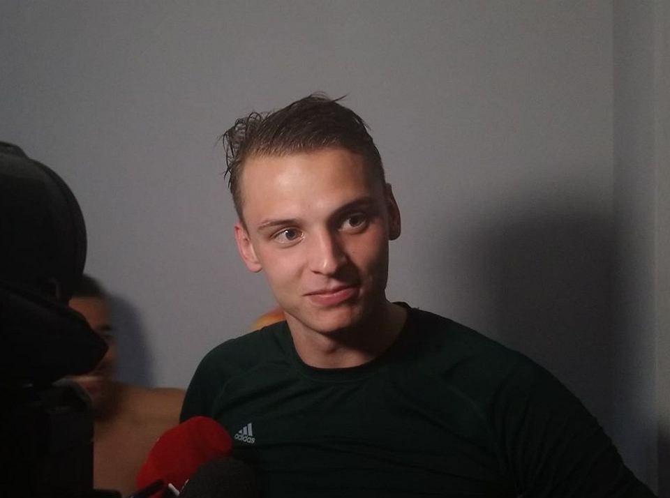 Rafał Makowski zdobywca dwóch goli z Siarką Tarnobrzeg