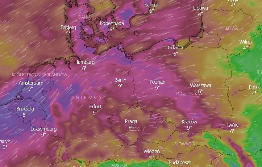 Ostrzeżenia IMGW przed silnym wiatrem - piątek 12 marca.