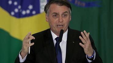 Prezydent Brazylii Jair Bolsonaro.