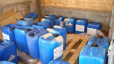 Chemikalia w zatrzymanych ciężarówkach