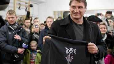 Andrzej Gołota podczas spotkania w klubie Wilki Olsztyn