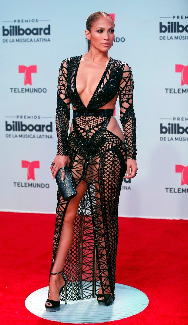 Singer Jennifer Lopez arrives at the Latin Billboard Awards, Thursday, April 27, 2017 in Coral Gables, Fla. (AP Photo/Wilfredo Lee).