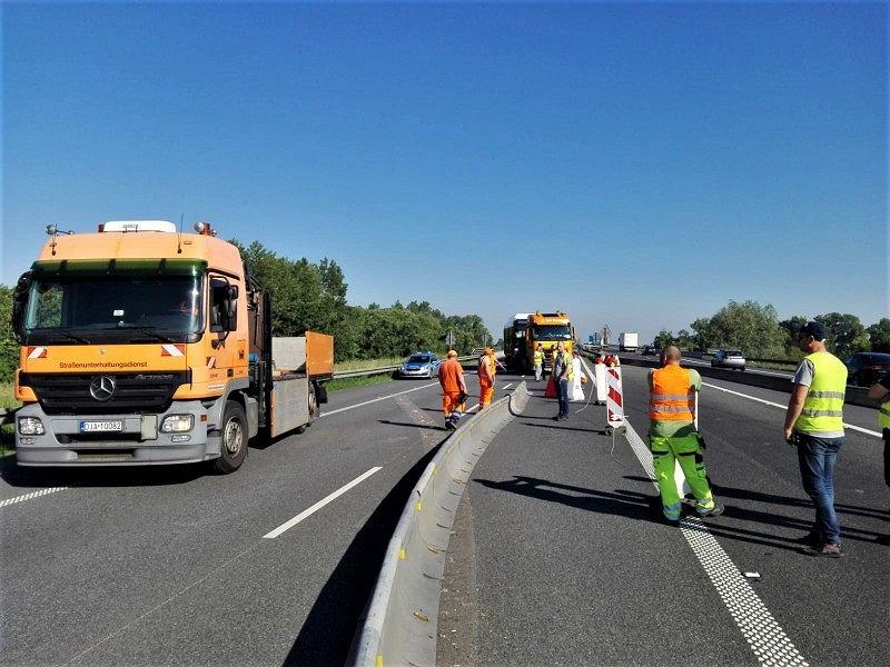 Remont autostrady A4 pod Wrocławiem