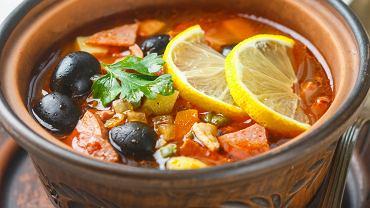 Konspol - Zupa cytrynowa z oliwkami