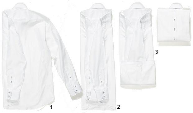 Akademia stylu: jak spakować walizkę, akademia stylu, moda męska, Szybkie składanie - Koszula