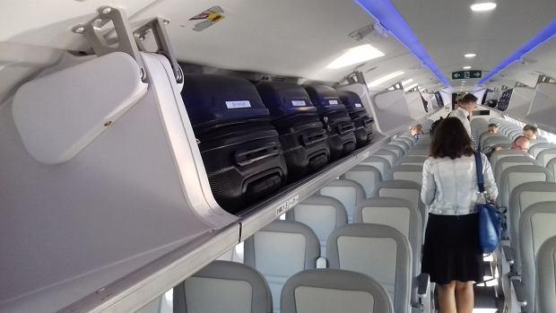 Embraer E190-E2 'Rekin' podczas prezentacji w Warszawie