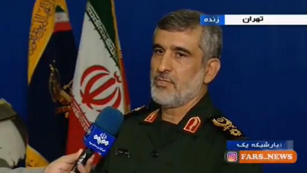 Dowódca sił powietrznych Korpusu Strażników Rewolucji Islamskiej Amir Ali Hajizadeh