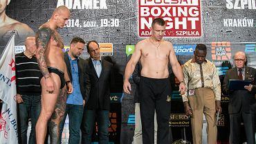 Artur Szpilka (z lewej) przed walką z Tomaszem Adamkiem