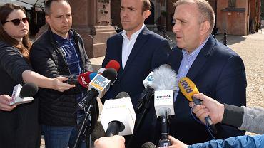 Konferencja Grzegorza Schetyny i Borysa Budki