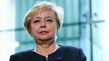 I prezes SN Małgorzata Gersdorf podczas wystąpienia z okazji Dnia Wymiaru Sprawiedliwości. Warszawa, 23 maja 2016