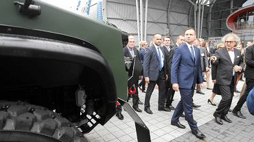 Kielce, prezydent Andrzej Duda na Targach MSPO