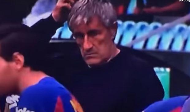 Leo Messi zignorował polecenia trenerów. Bezcenna mina Quique Setiena