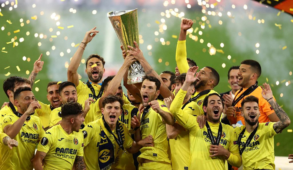 Finał Ligi Europy Villarreal - Manchester United. Radość piłkarzy Villarreal