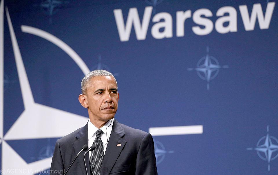 Prezydent USA Barack Obama Pierwszy podczas szczytu NATO w Warszawie, 08.07.2016 r.