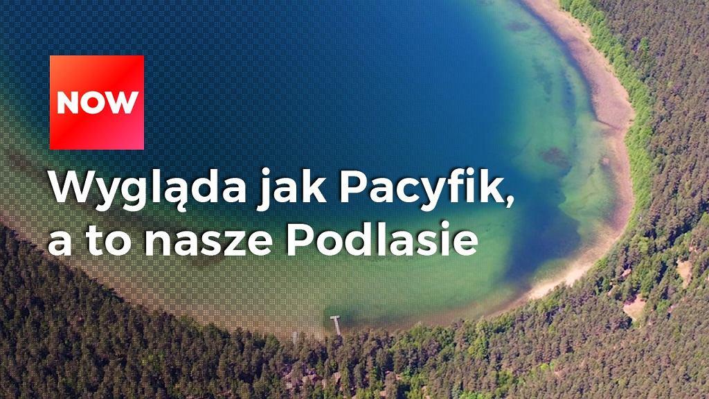 Wygląda jak wyspa na Pacyfiku, a to jezioro na Podlasiu