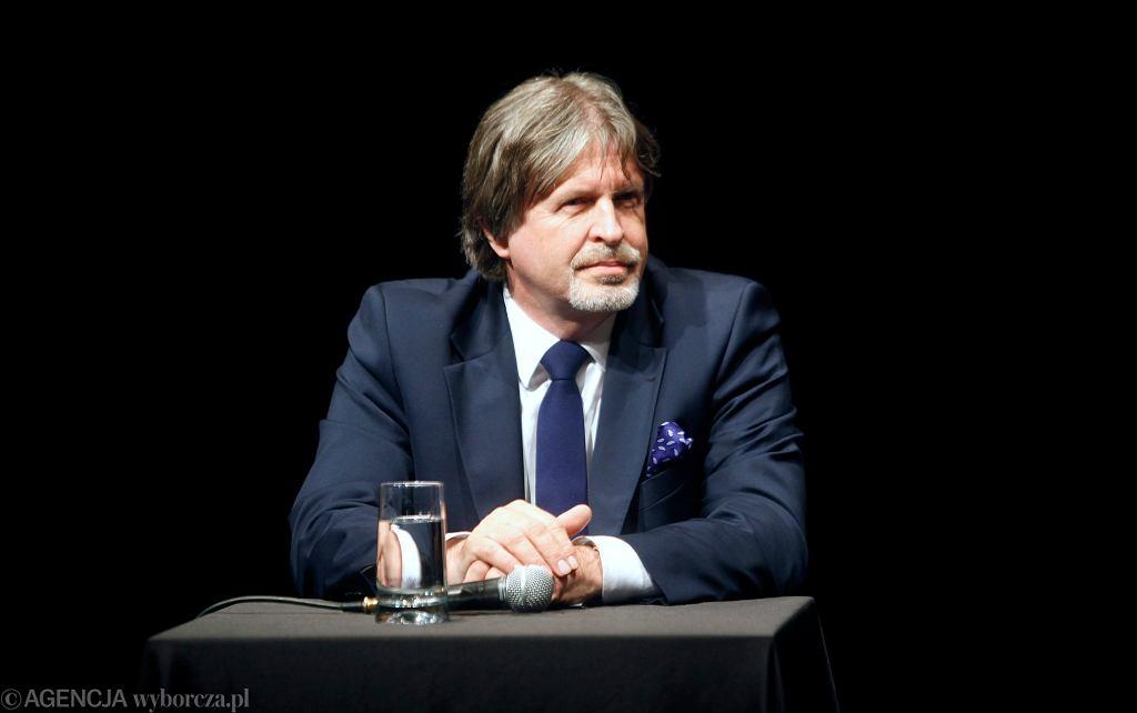Andrzej Sośnierz podczas debaty. Katowice, 24 listopada 2011