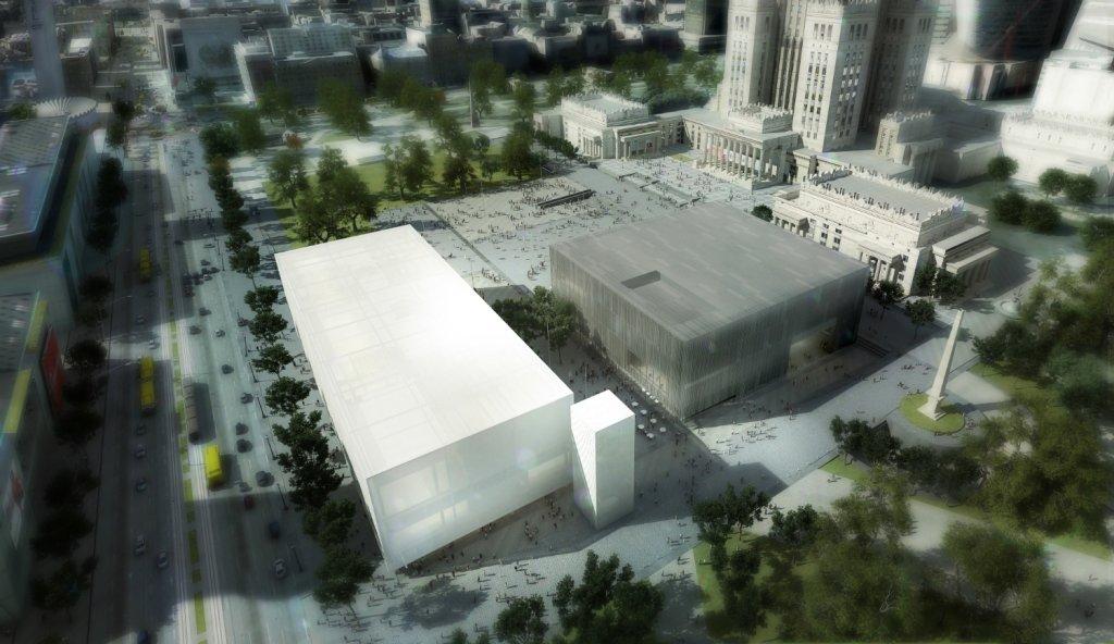 Muzeum Sztuki Nowoczesnej na placu Defilad - wizualizacja