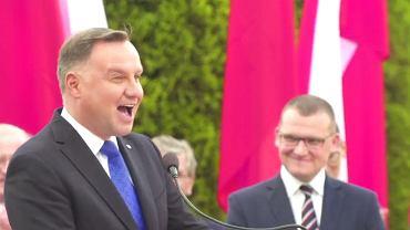Andrzej Duda  opowiada dowcip