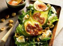 Sałatka z karmelizowanymi figami i kozim serem - ugotuj