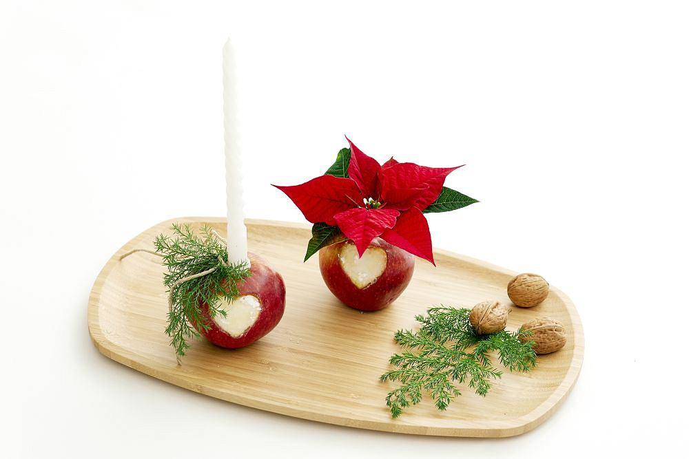 Dekoracja adwentowa z jabłek