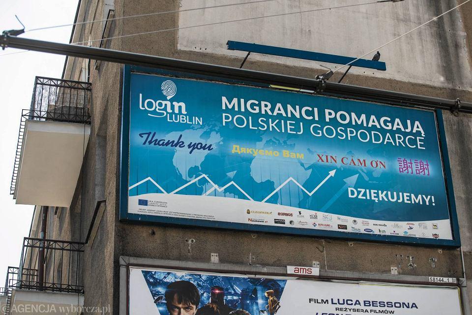 Takie billboardy wspierające uchodźców kilka lat temu wisiały w przestrzeni publicznej w Lublinie