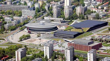 Widok na Strefę Kultury w Katowicach