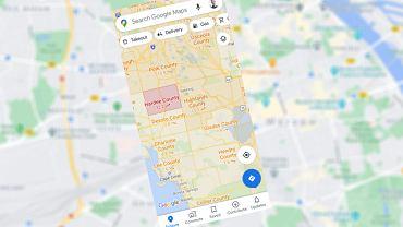 Google Mapy - liczba zachorowań na 100 tys. mieszkańców