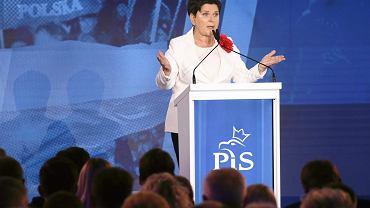Beata Szydło podczas konwencji Prawa i Sprawiedliwości, 14 kwietnia 2018.