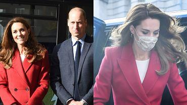 Księżna Kate odwiedziła szpital w Londynie. Na tę okazję założyła gustowny płaszcz, a wszyscy patrzyli na jej brzuch