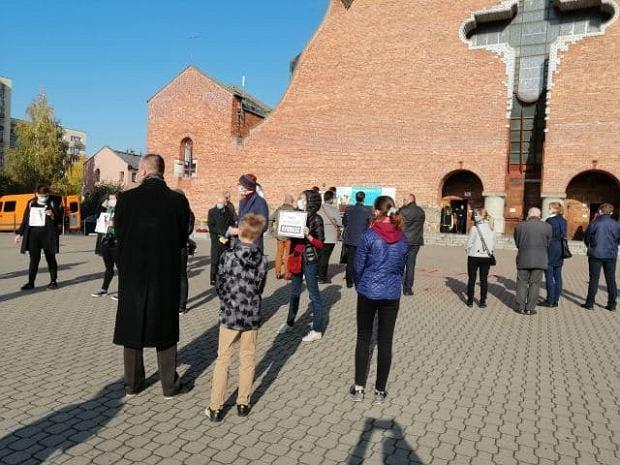 Protest na warszawskim Ursynowie