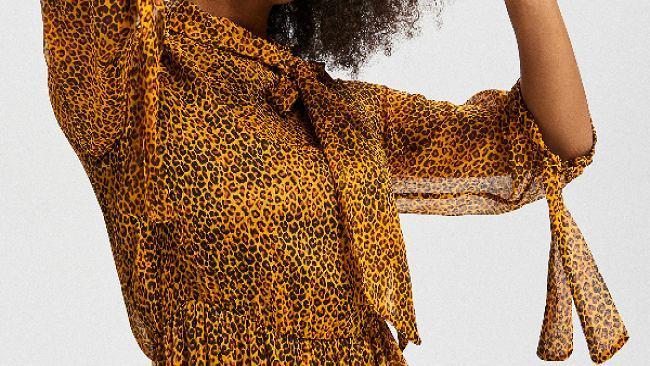 Sukienka midi w zwierzęce wzory